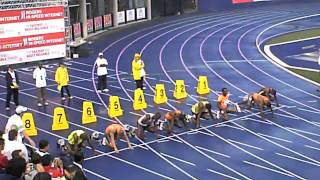 Usain Bolt running 100 metres in Toronto, Canada..  {Thurs 2009-06-11}