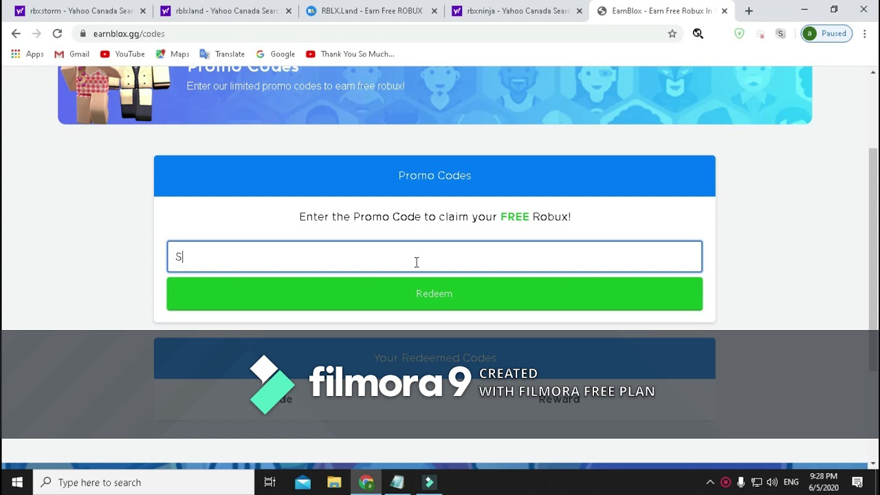 June Summer New Roblox Promo Codes On Roblox Give You Robux Working 100 Earnblox Gg Youtube