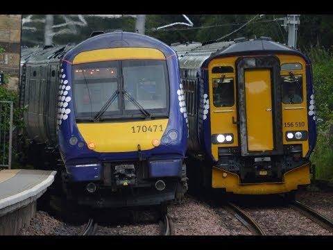 Fast peak-time trains at Croy | GTEL + CL - 27/07/2017