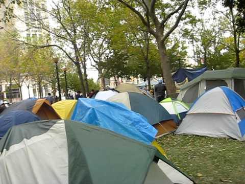 Occupy Detroit encampment in downtown Detroit -- Oct. 2011