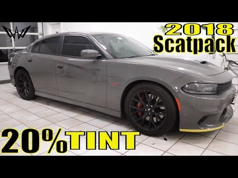 Tinting a 2018 Dodge Charger ScatPack in 20% Tint (winning window tints)