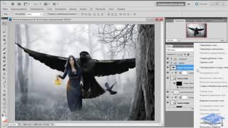 Создаём коллаж с лесной колдуньей в Photoshop #2