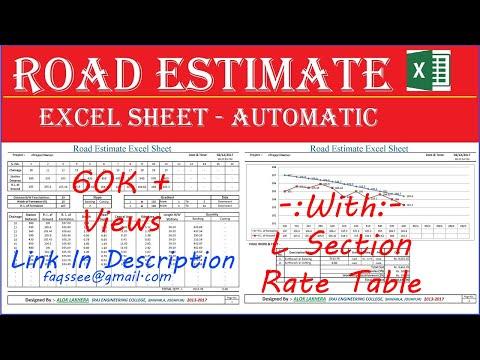 Road Estimate Excel Sheet   Estimate Software   Automatic