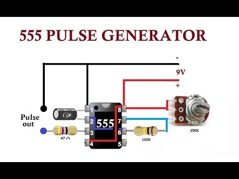 555 pulse generator simple circuit youtube rh youtube com DC Pulse Generator DC Pulse Generator