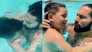 Poncho de Nigris obliga a su hijo a respirar bajo el agua para TikTok y todos 'estallan'