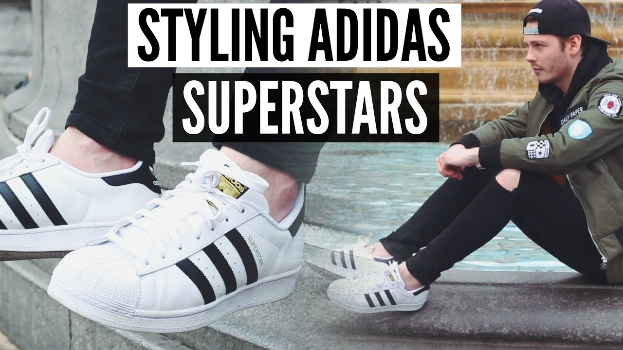 How To Style Adidas Superstars | Mens Fashion 2018 Spring Lookbook |  Sneaker Comparison - YouTube