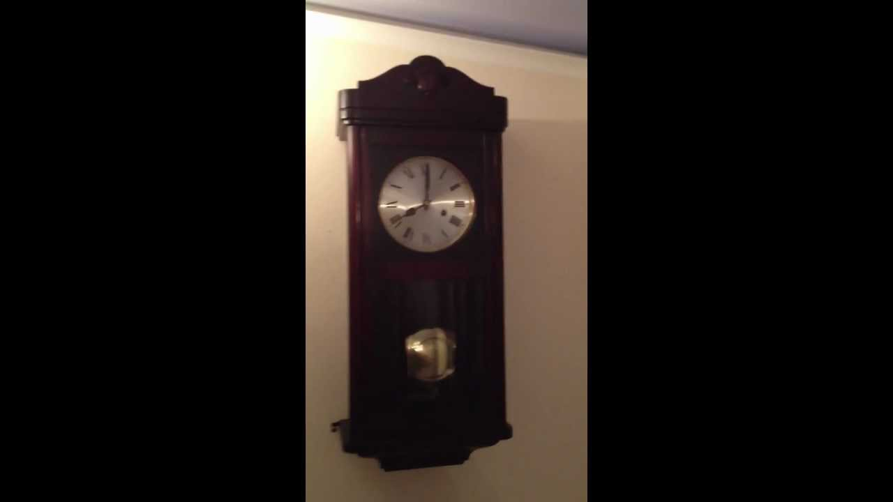 Hac crossed arrows mahogany westminster chime wall clock chiming 3 hac crossed arrows mahogany westminster chime wall clock chiming 34 youtube amipublicfo Choice Image