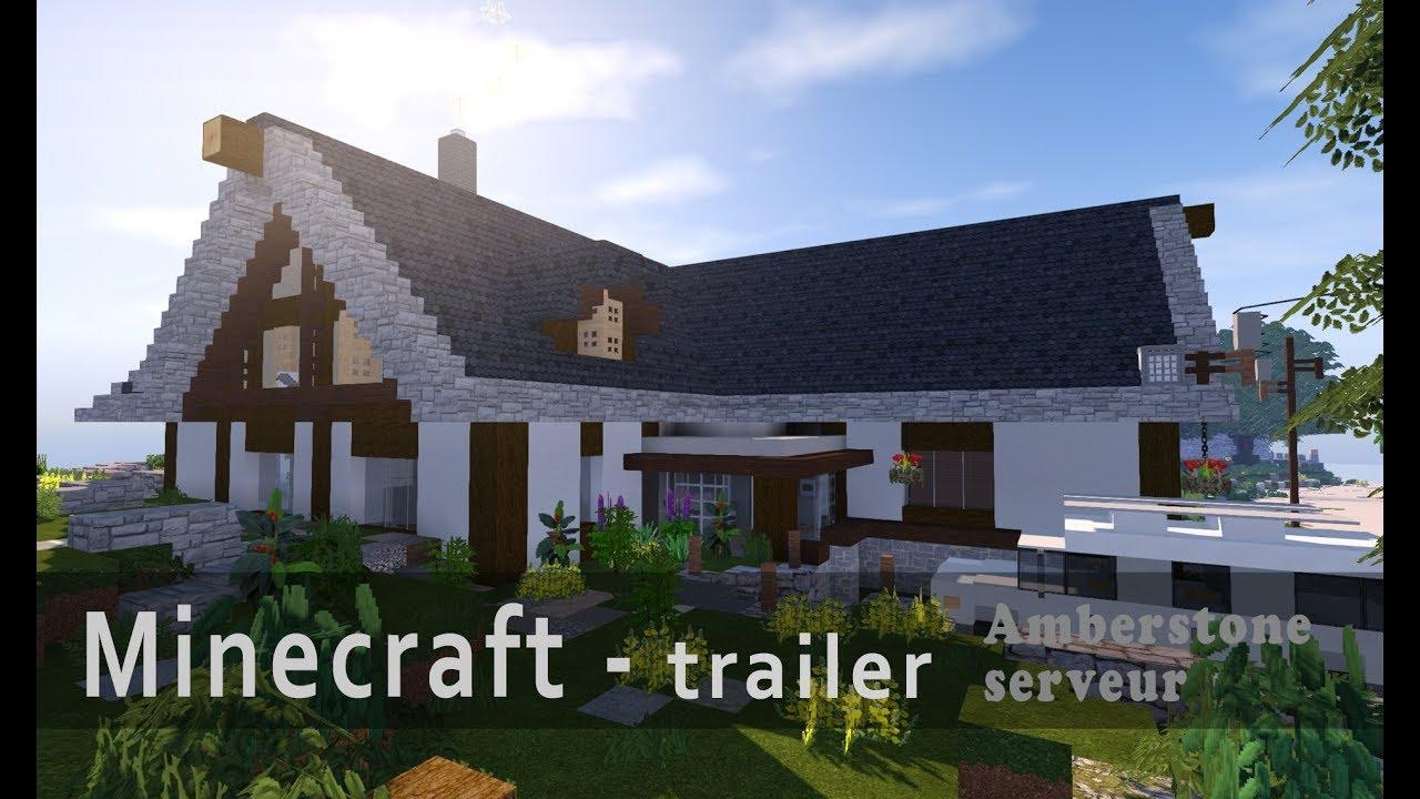 Trailer minecraft maison réaliste de campagne