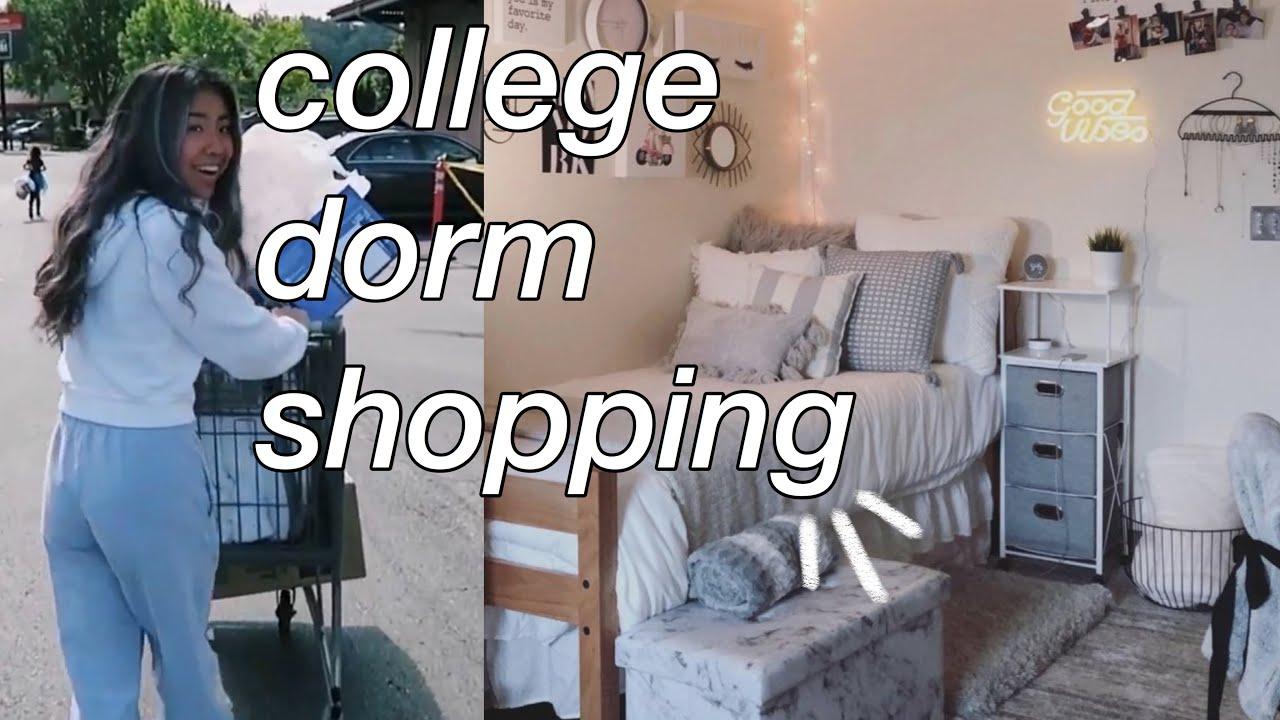 COLLEGE DORM HAUL + SHOP W/ME