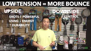 what should i string my badminton racket tension at