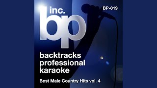 Tonight I Wanna Cry (Karaoke Instrumental Track) (In the Style of Keith Urban)
