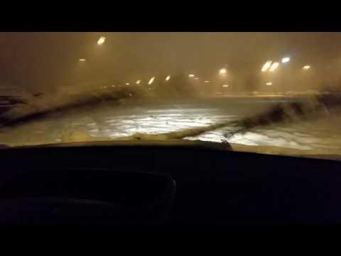 Skopje snow drifting