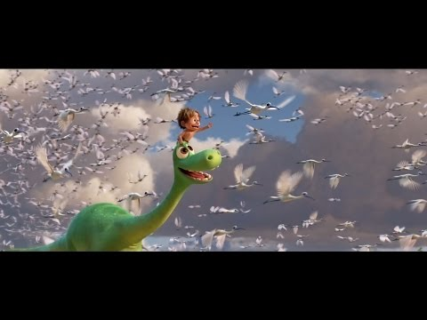 """Above The Clouds"" Clip - The Good Dinosaur"