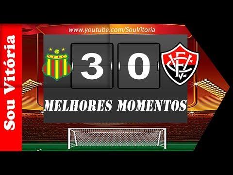Sampaio Corrêa 3 x 0 Vitória melhores momentos Copa do Nordeste quartas de finais