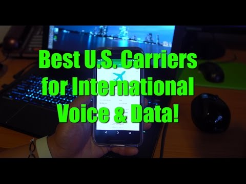 Best U.S. Carriers for International Travel Data and Voice!