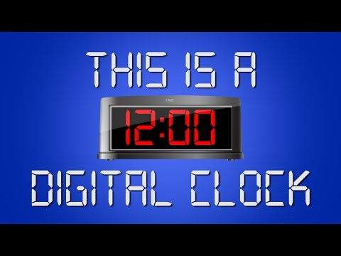 This Is a Digital Clock  Digital Clock Song for Kids  Telling Time  Jack Hartmann