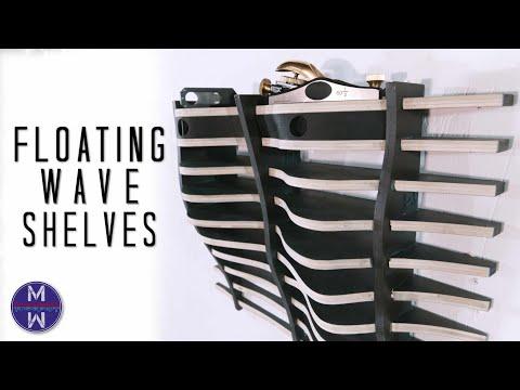 Wave-shaped Floating Shelves || DIY or CNC woodworking || parametric design