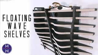 Wave-shaped Floating Shelves || DIY or CNC woodworking || para…