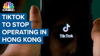 TikTok stops operations in Hong Kong after implementation of new China security law