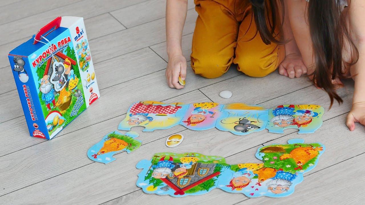 Vladi Toys VT2909-12 Игра настольная путешествие по сказке Курочка Ряба