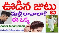 ఈగింజలు తింటేచాలు ఊడిన జుట్టు మొత్తం వస్తుంది|juttu ravalante|Manthena Satyanarayanaraju|GOOD HEALTH