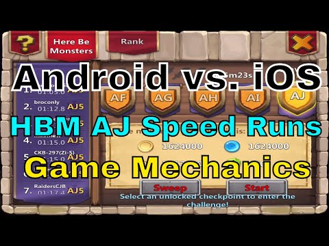Castle Clash Android Vs. IOS: HBM AJ Speed Run Discussion