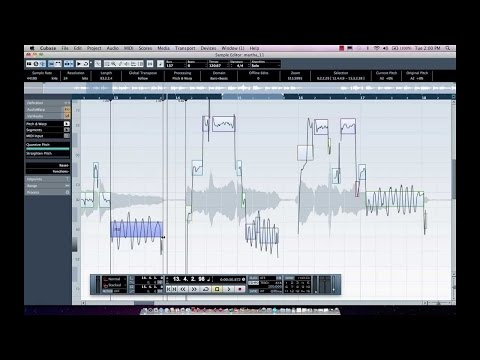 Vocal Tuning, Comping and Audio-to-MIDI In Cubase