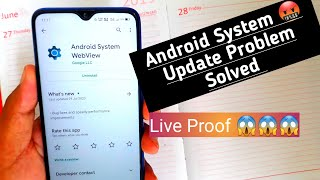 Android system webview - update problems   how to systemfollow me on twitterjoin my telegram channelhttps://t.me/joinch...