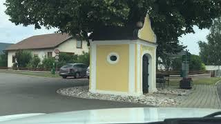 Scenic country road between Weikersdorf and Winzendorf - AUSTRIA