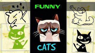 Коты танцуют. Смешные коты и кошки 2019. Funny cats 2019.