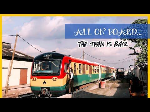 RIDING THE TRAIN IN GHANA   TEMA - ACCRA TRAIN LINE RESUMES  GHANA RAILWAY
