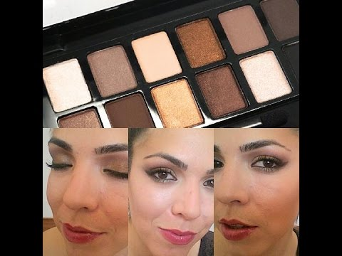 Bronze smokey / Maybelline The Nudes Palette - Andrea Flores Tv