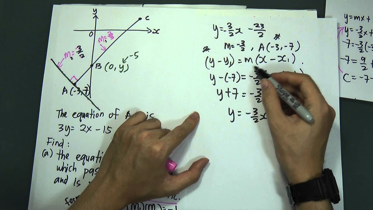 SPM - Form 4 - Add Maths - Geometry Coordinate 1 - YouTube
