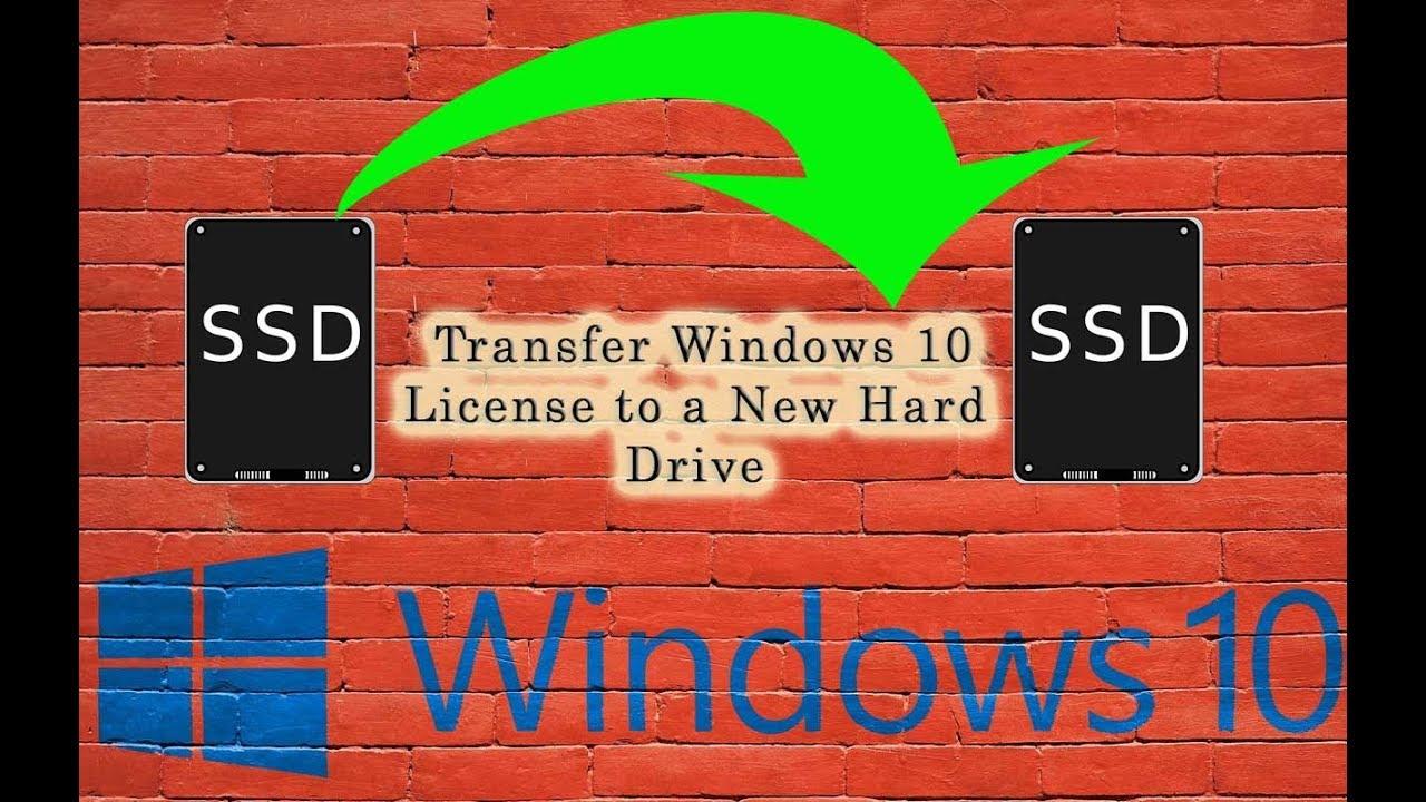 transfer windows 10 oem license to new hard drive