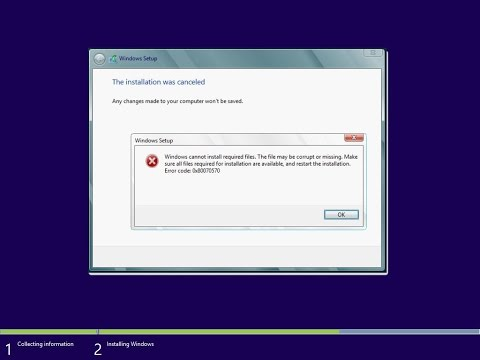 How to Fix Windows OS Installation Error 0x80070002 for Windows 10