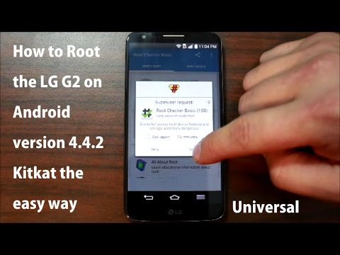 How to Root the LG G2 on Android version 4.4.2 Kitkat the ...