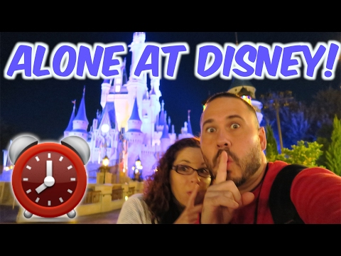 WALT DISNEY WORLD! 24 HOUR OVERNIGHT CHALLENGE AT DISNEY MAGIC KINGDOM