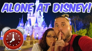 (ALONE) SNEAKING INTO DISNEY WORLD! 24 HOUR OVERNIGHT CHALLENGE! | OmarGoshTV