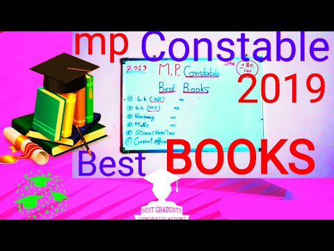 mp constable|| BEST books for mp police constable 2019 exam || important books constable,||mp 👮