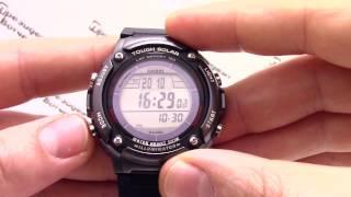 Годинник Casio Illuminator W-S200H-1B [W-S200H-1BVEF] - Інструкція, як налаштувати від PresidentWatches.Ru