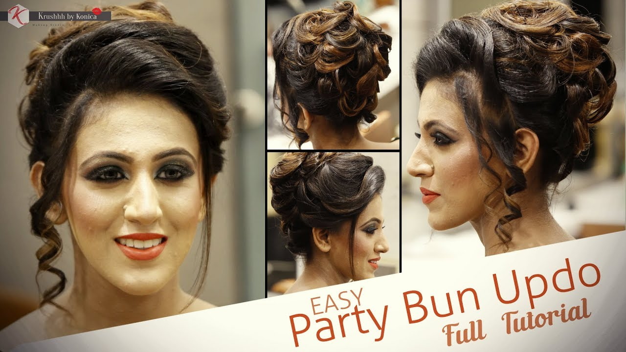 Easy Party Hair Bun Updo Tutorial Step By Step Hair Bun Tutorial