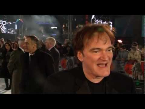 Quentin Tarantino reacts to Oscar nominations at UK premiere of Django Unchained