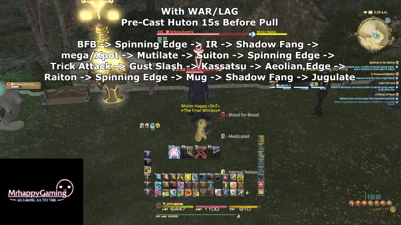 FFXIV ARR: Ninja Job Guide (Patch 2 45)