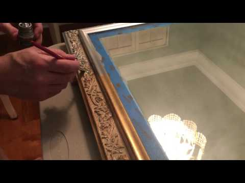 Painting a gold mirror frame