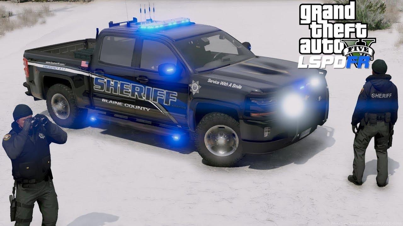 GTA 5 LSPDFR Police Mod #680 New Blaine County Sheriff Silverado Vs