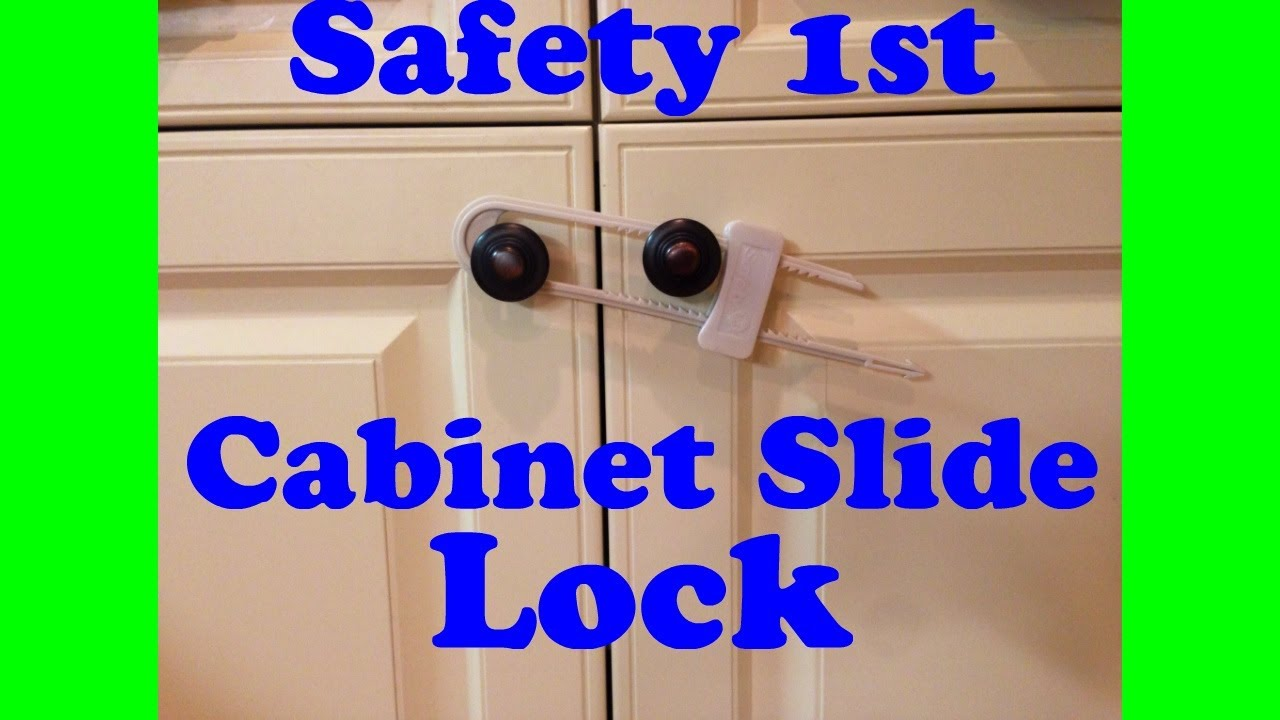 Safety 1st Cabinet Lock Safety 1st Cabinet Slide Lock Review Youtube