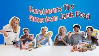 Foreigners Try American Junk Food (Taste Test)