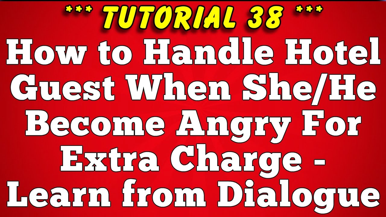 Hotel English Dialogue - When Guest Becomes Angry for Extra Charge  (Tutorial-38)