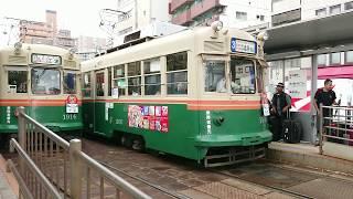 広島電鉄1900形1906号『西陣』&800形813号 土橋にて