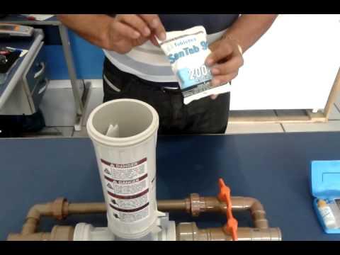 Bomba dosadora de cloro autom tica modelo br youtube for Cloro nelle piscine
